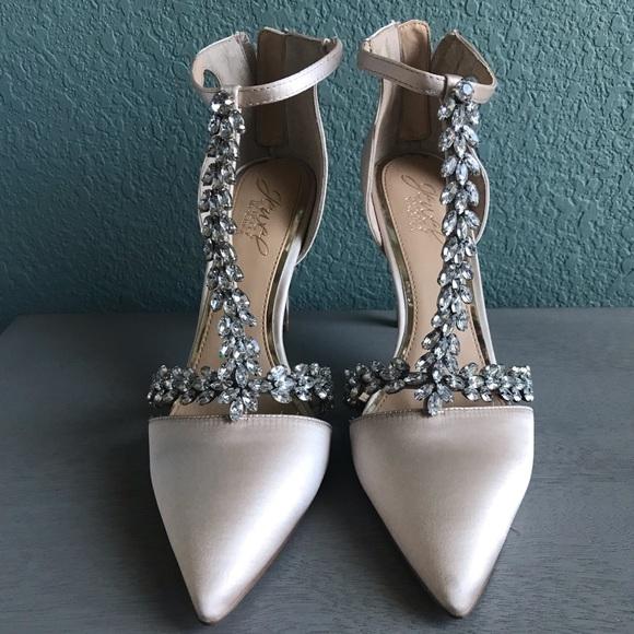 3e57ea08c745 Badgley Mischka Shoes - Badgley Mischka Meena T strap heel